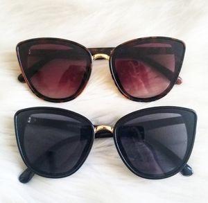 Oversized Cat Eye Gold Rim Sunglasses